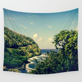 Honomanu Highway to Heaven Road to Hana Maui Hawaii Wall Tapestry