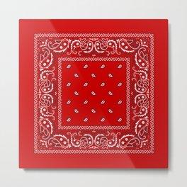 Paisley - Bandana - Red - Southwestern - Boho Metal Print