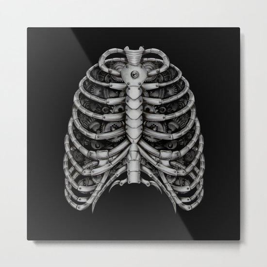 People front Bone silver  Metal Print