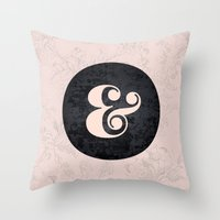 ampersand Throw Pillows featuring ampersand by StudioAmpersand