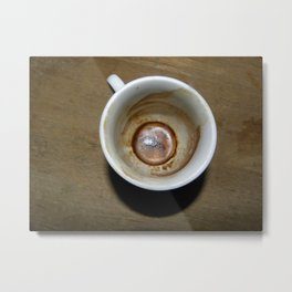 Empty cup of coffee Metal Print