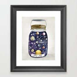 space jam jar Framed Art Print