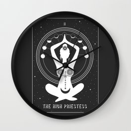 Minimal Tarot Deck The High Priestess Wall Clock