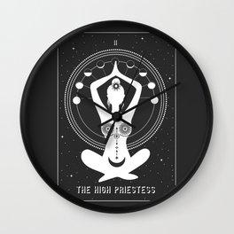 Minimal Tarot Deck The High Priestess Wall Clock