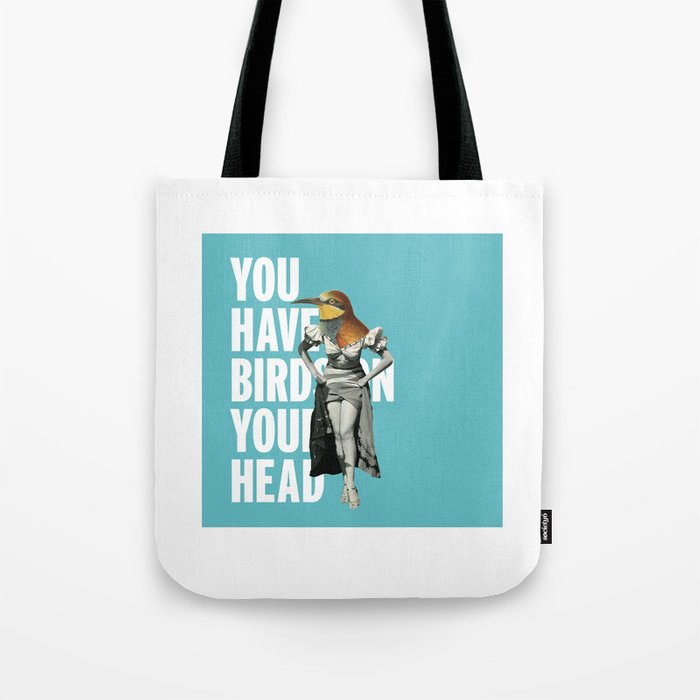 Birds on your head Tote Bag
