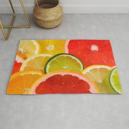 Simply Citrus, Orange Lemon and Mandarin Rug