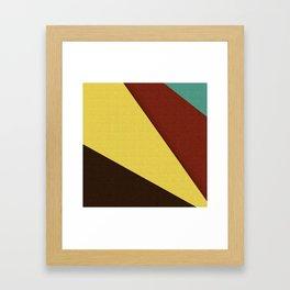 Retro Earth Tones Framed Art Print