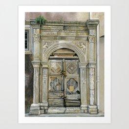 Venetian Doorway, Rethymno, Crete Art Print