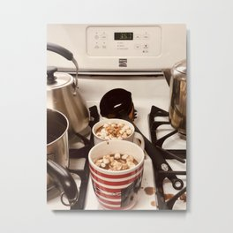 time for hot cocoa Metal Print