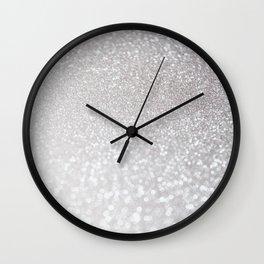 Silver ice - glitter effect- Luxury design Wall Clock