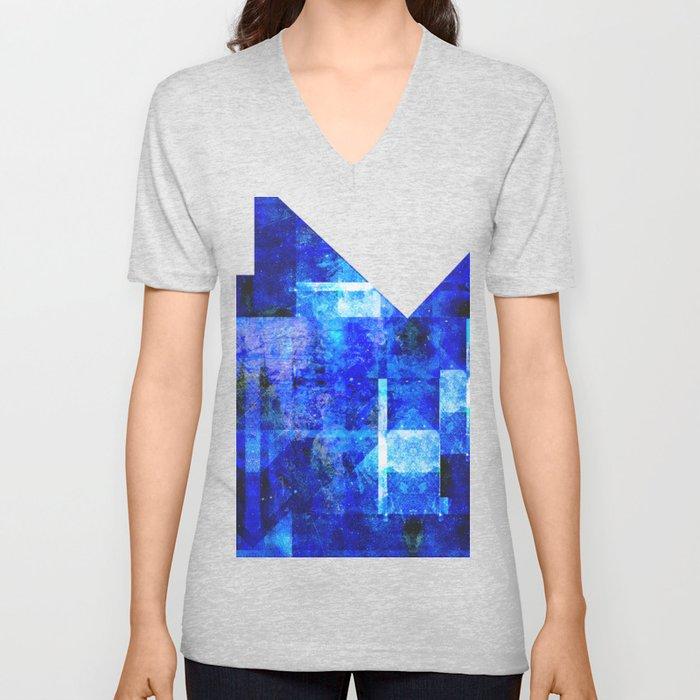 Sapphire Nebulæ Unisex V-Neck