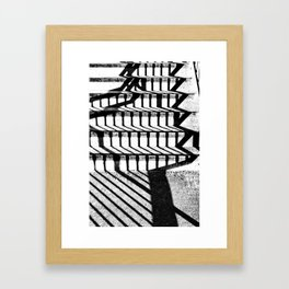 steps and shadows Framed Art Print