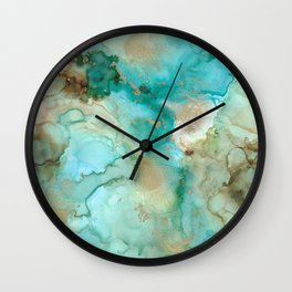 Alcohol Ink 'Mermaid' Wall Clock