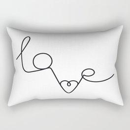 Woman & LoveMe Rectangular Pillow