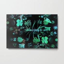 Fluo Metal Print