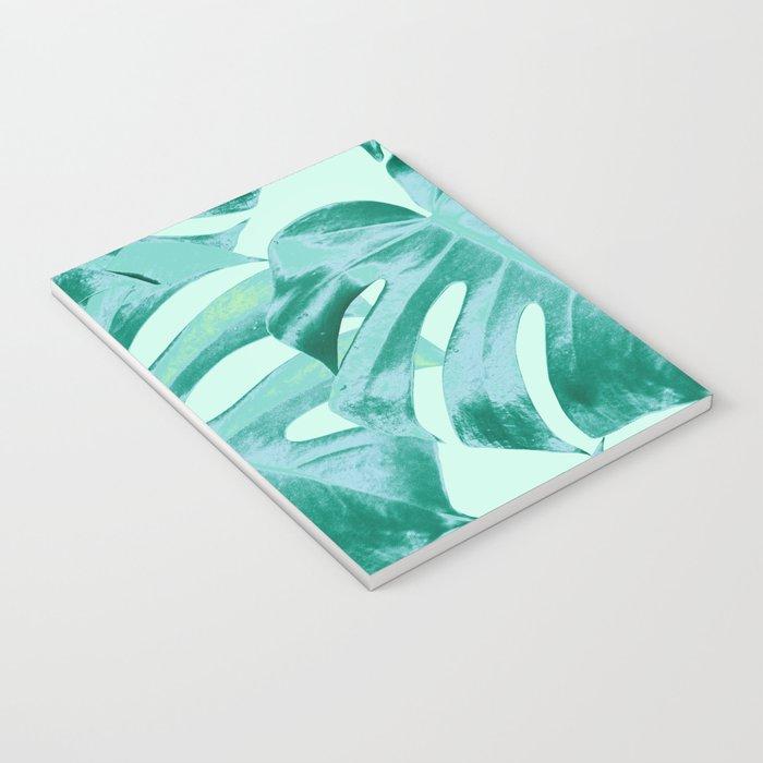 Tropical Monstera Leaves Dream #4 #tropical #decor #art #society6 Notebook