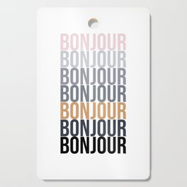 Bonjour in Bold Typography and Fall Colors Cutting Board