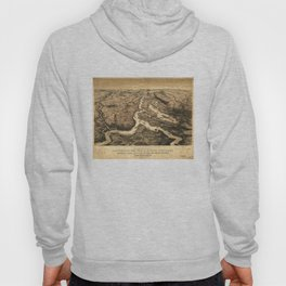 Vintage Ohio & Mississippi River Junction Map (1861) Hoody