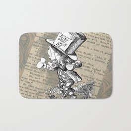 Mad Hatter and Tea Cup Bath Mat