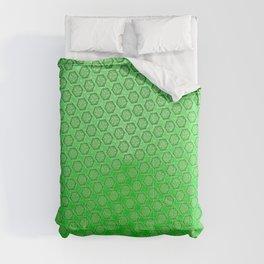 d20 Acid Green Critical Hit Pattern Comforters