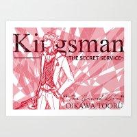 Oikawa Kingsman AU Art Print