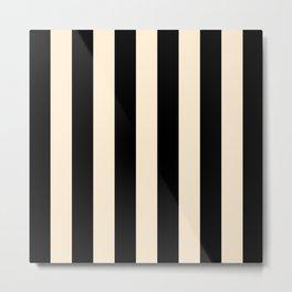 Elegant Stripes - Black & Beige Metal Print