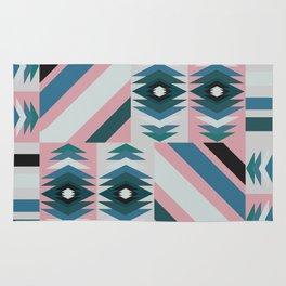 Ethnic quilt pattern Rug