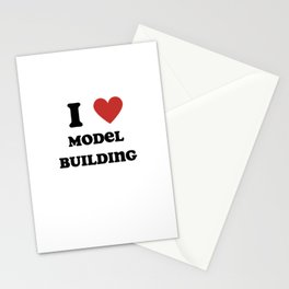 I Love Model Building Stationery Cards