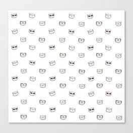 Hipster Kitties Canvas Print