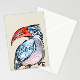 Earnest Hornbill Stationery Cards