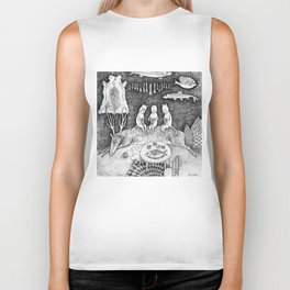 Knitting Cats Biker Tank