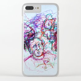 Jazzy Jumble Clear iPhone Case
