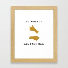 Hugs All Day Framed Art Print