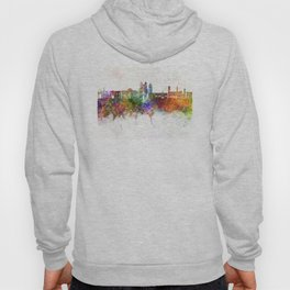 Sucre skyline in watercolor background Hoody