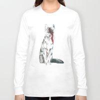 coyote Long Sleeve T-shirts featuring Coyote II by Susana Miranda ilustración