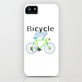 Bicycle Boy – June 12th – 200th Birthday of the Bicycle iPhone Case