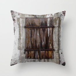 Wooden Window Throw Pillow