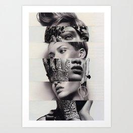 Rhianna the cut-up Art Print