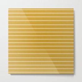 Mustard Minimalist Stripes Metal Print