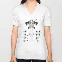 fear V-neck T-shirts featuring Fear by Anna Pietrzak