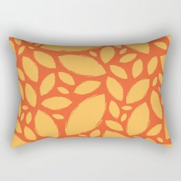 Painted Tree Leaves V2 - Orange Rectangular Pillow