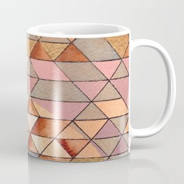 Triangles Circles Golden Sun Coffee Mug