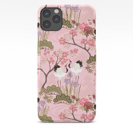 Japanese Garden in Pink iPhone Case