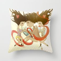 Doll Sunkissed Bipolar Love  Throw Pillow