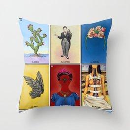 La Lotería de Frida Throw Pillow