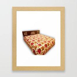 Handmade Tropicana Kantha Blanket / Bedspread Framed Art Print