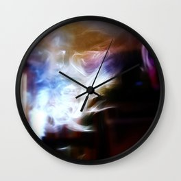Painting with Smoke - Lady in the clouds Wall Clock