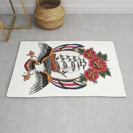 Eagle & Ship Traditional Tattoo Rug