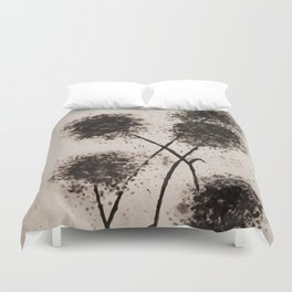 The Dark Flowers Of Discord Go To Seed Duvet Cover