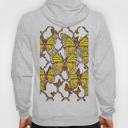 ABSTRACT LACEY PATTERN MONARCH BUTTERFLIES DESIGN Hoody